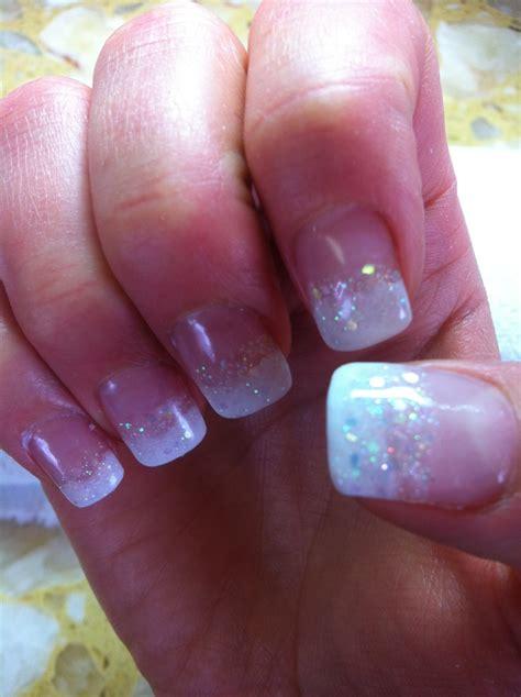 powdered gel nails design vj nails  calgary alberta