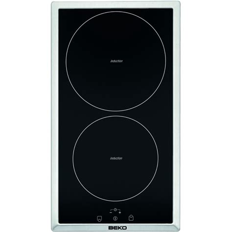 2 hob induction cooktop beko hdmi32400dtx built in induction domino hob 2 cooking