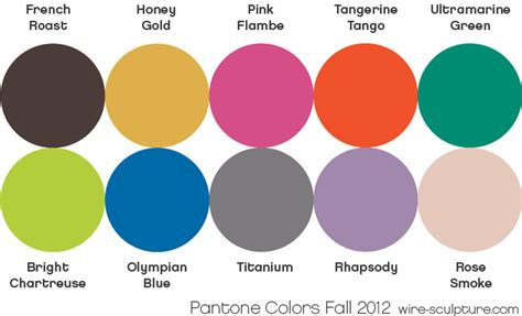 may colors wire jewelry tip july 11 pantone s fall 2012 color