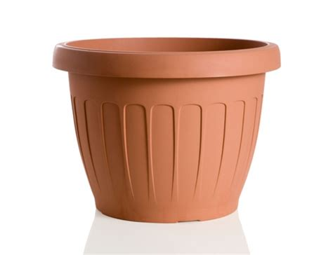 vaso plastica vaso plastica da 30 marrone vasi arredo giardino