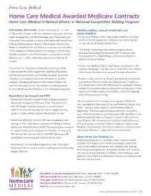Wound Care Documentation Sle by Home Care Awarded Medicare Contracts Ncb Home Care