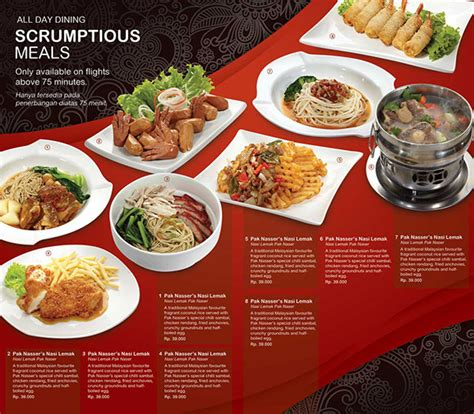 airasia menu air asia menu booklet design pitching project on behance