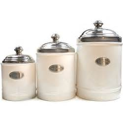 Kitchen Ceramic Canister Sets by Fifth Avenue Crystal White Canisters With Metal Plated