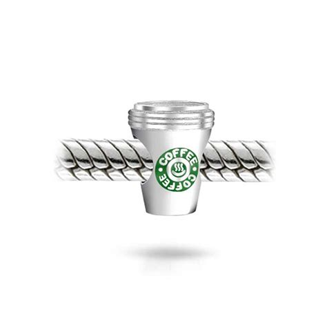 925 sterling silver green coffee cup to go bead charm