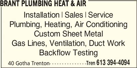 brant plumbing heat air trenton on 40 gotha st