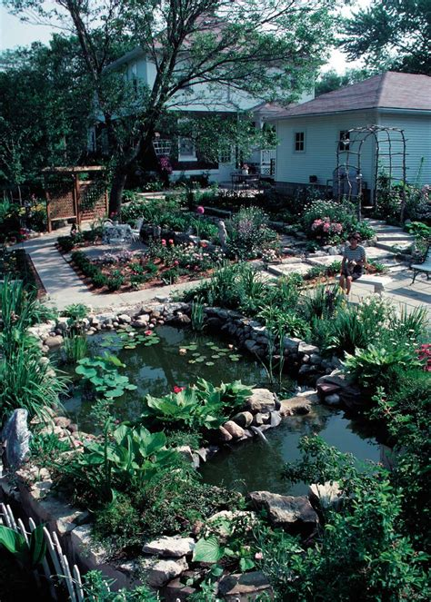 backyard conservation public domain picture a pond is the focal point of a