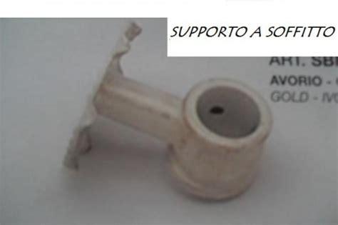 supporti per tende a soffitto supplemento supporto a soffitto acciaio per bastoni mm