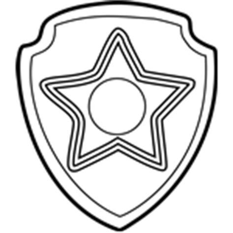 paw patrol chase badge coloring page zuma badge coloring page free paw patrol coloring pages