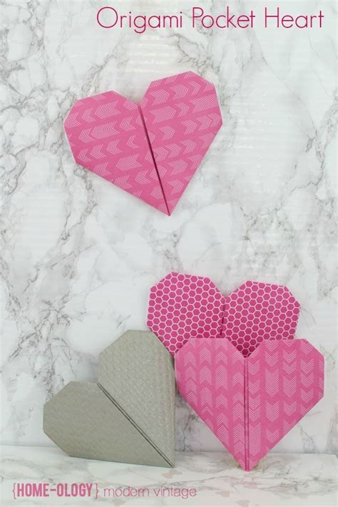 tutorial origami heart a beautiful paper origami heart pocket to hold sweets or a