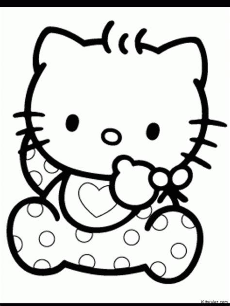 dibujos infantiles kitty dibujo de hello kitty beb 233 para colorear dibujos