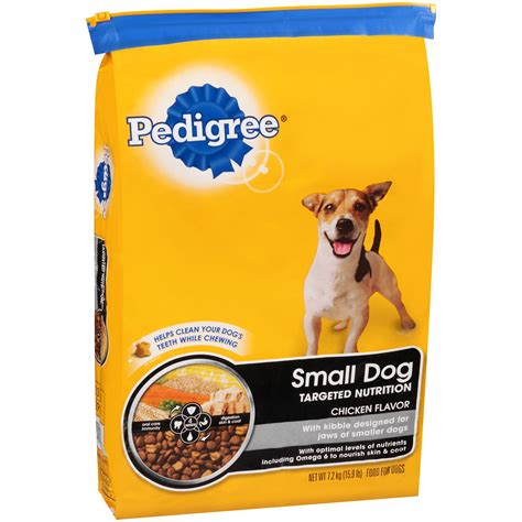 pedigree small breed kibbles dry dog food  pound bag