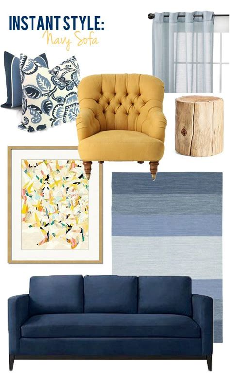 Style Edition Blog Style Edition Pinteres Navy Blue Couches Living Room