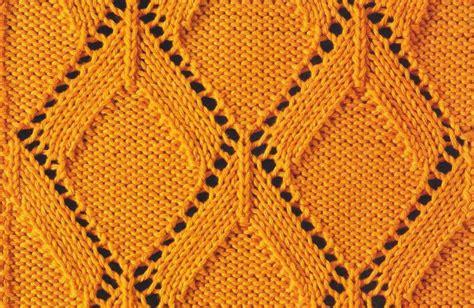 Diamond Pattern In Knitting | knitted diamond lace knitting bee