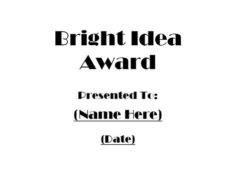 Bright Idea L by Awards Free Templates Clip Wording Geographics