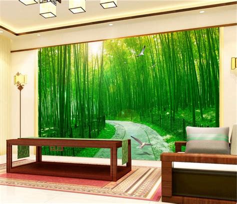 buy  wallpaper custom mural forest road