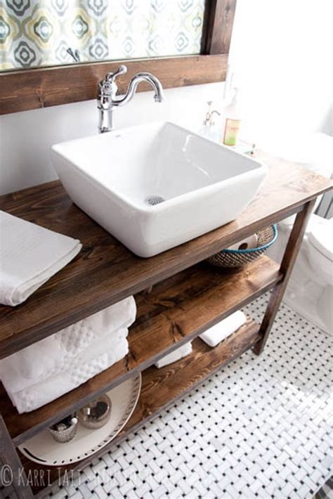 bathroom vanity open shelves five ways to update a bathroom centsational