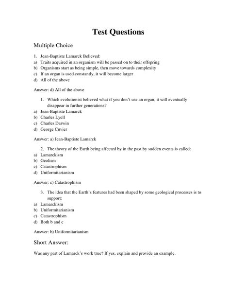 biography questions test questions for bio