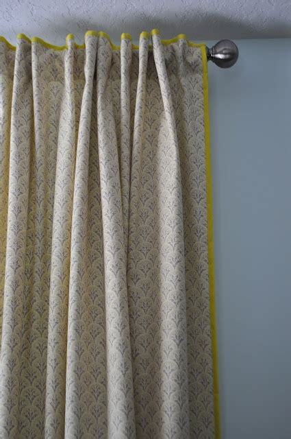 sewing trim on curtains trim curtains with colorful bias tape sewing pinterest