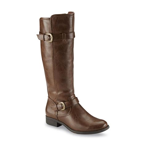 womens bike riding boots wear ever women s julia brown riding boot shop your way