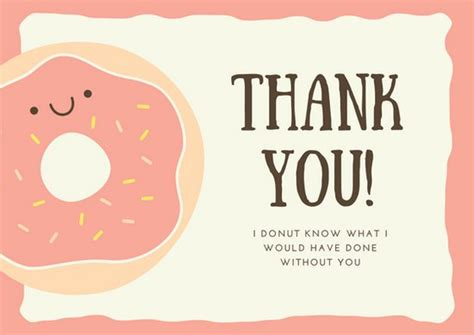 free thank you card templates donut customize 393 thank you postcard templates canva