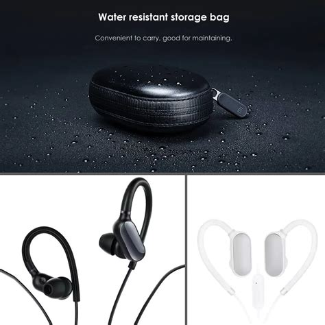 Xiaomi Mi Sports Bluetooth Wireless Headset Waterproof Earphone Hitam xiaomi mi sports bluetooth headset mini version wireless
