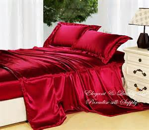 19mm heavy weight silk seamless bedding 4pcs duvet cover