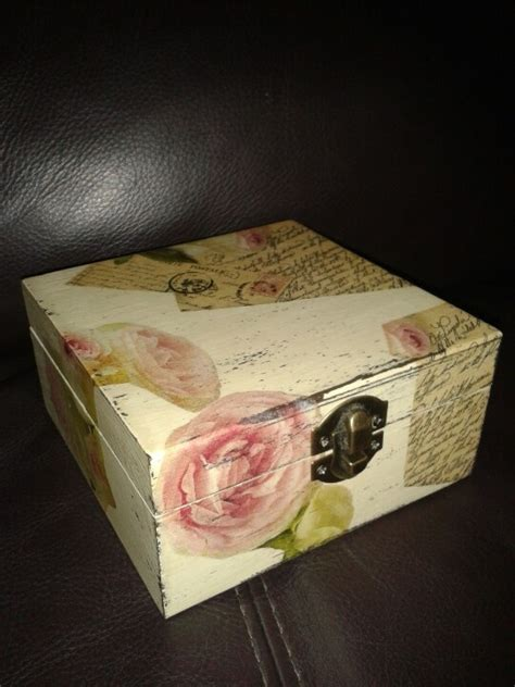 Decoupage Cardboard Box - 7 best images about decoupage with paper napkins on
