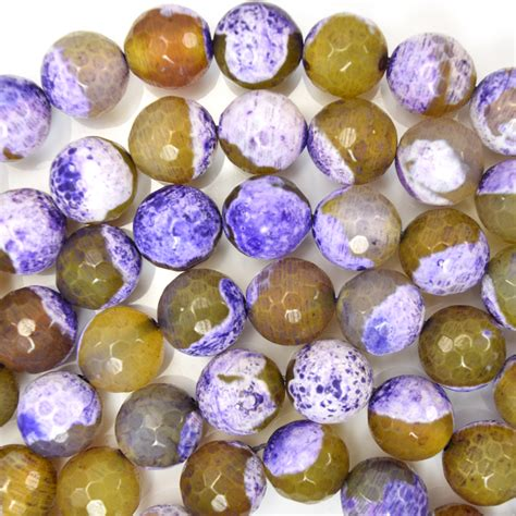 8mmyellow Crab Faceted Agate Faceted Purple Crab Agate 15 Quot Strand 4mm