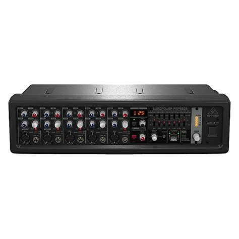 Behringer Pmp550m 500 Watt 5 Channel Power Mixer With Wireless Option behringer pmp550m europower 5 channel powered mixer 500 reverb