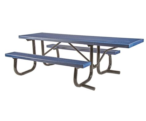 picnic table frame kit ada frame kit for 8 ft picnic table welded 2 3 8 quot galvanized steel portable by park tables