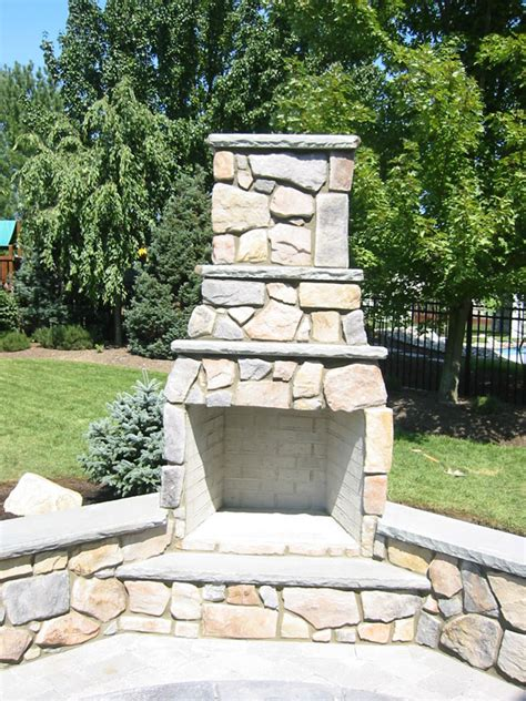 outdoor fireplaces in columbus oh artistic concrete ohio