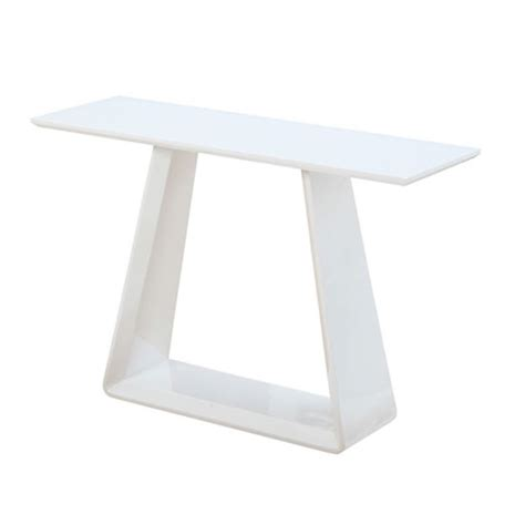 White Gloss Console Table Astrik Console Table In White High Gloss 23905 Furniture In