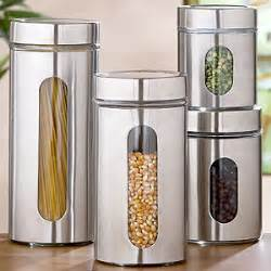 modern kitchen canisters round glass storage jars sets of 2 storage containers