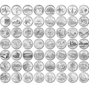 1999 2009 complete uncirculated state quarter