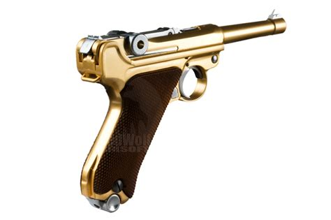 Magazine We P08 Sliver Gbb we luger p08 4 inch gbb pistol gold buy airsoft gas back pistols from redwolf