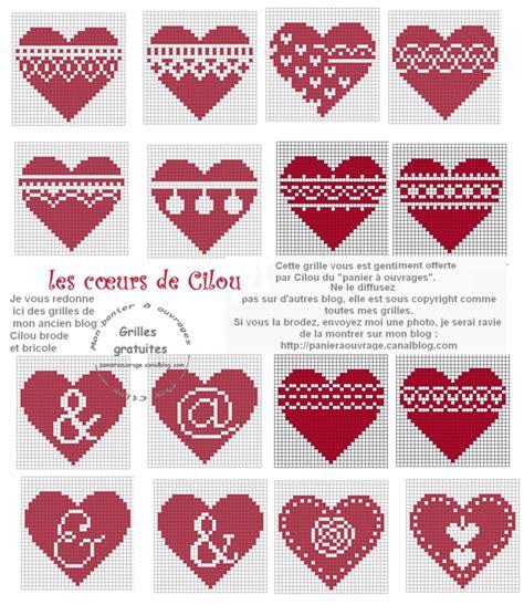 Grille Coeur Tricot by Des Coeurs Comme S Il En Pleuvait Mon Panier 224 Ouvrages