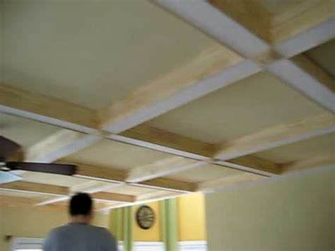 How To Make On Your Ceiling by Coffered Ceiling With Crown Moldings