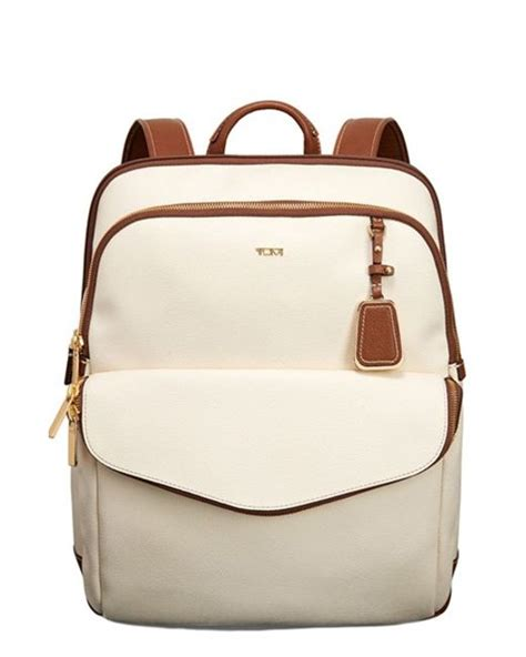 Sinclair Beige Bag tumi sinclair harlow coated canvas laptop backpack in