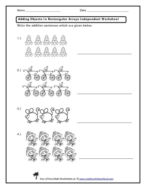Array Worksheets by Multiplication Array Worksheet Model Division With