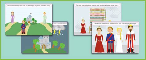 primary resources new year story the princess and the pea story visuals free early years