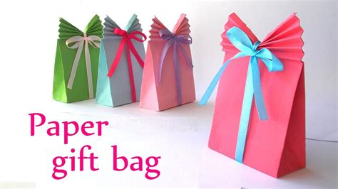 How To Make A Handbag With Paper - diy crafts paper gift bag easy innova crafts
