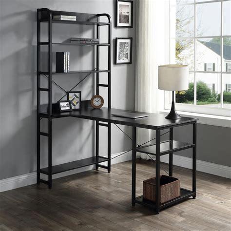 merax   rectangular black computer desk  solid