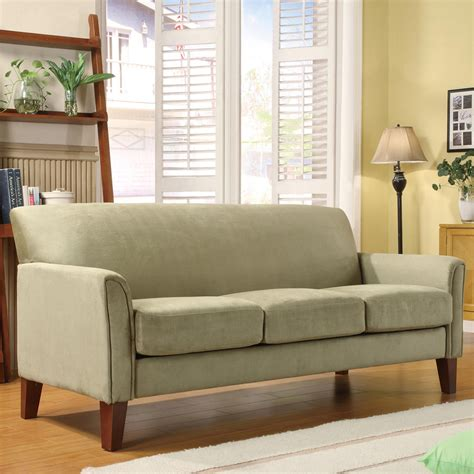 couches at sears oxford creek park hill sofa in sage microfiber