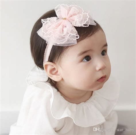 cute korean baby girl korean 2016 cute baby girl golden heart lace bowknot