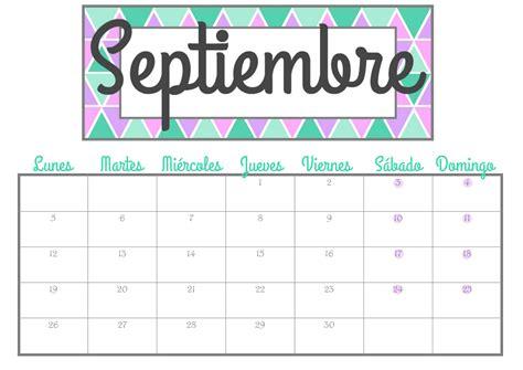 Calendario Septiembre 2017 Para Escribir Organiza T Calendarios De Septiembre Gratis Para Descargar
