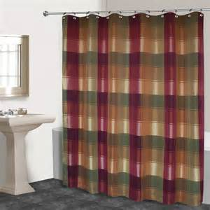 united curtain company ucshowplb plaid shower curtain