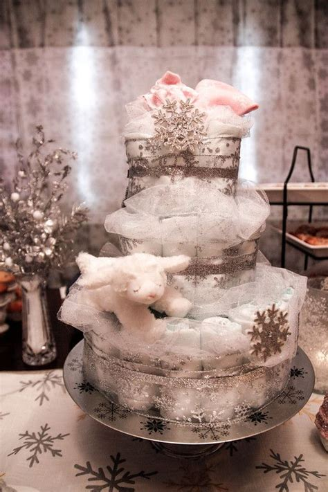 Snowflake Baby Shower Ideas by Winter And Cakes On