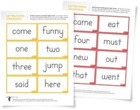 printable flash cards reading sight word flashcards preschool items juxtapost