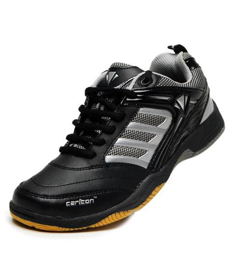 carlton sports shoes carlton prominent black silver badminton shoes buy