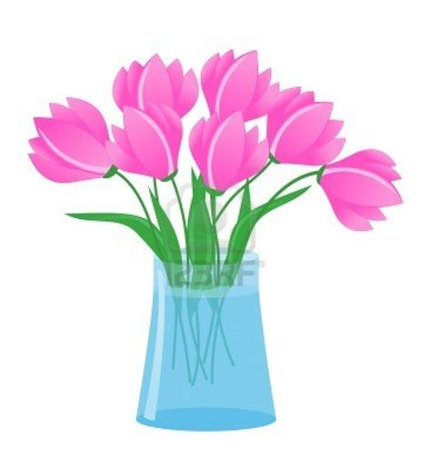 Vase Of Flower by Flowers In A Vase Clipart Clipartsgram